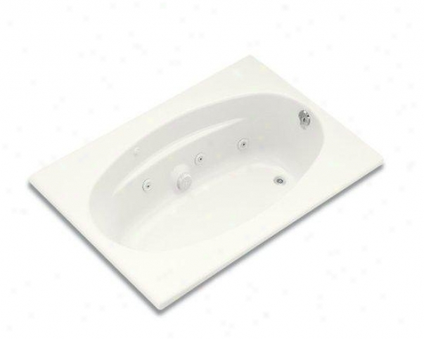 Kohler K-1126-r-0 6042 Whirlpool With Flange And Right-hand Drain, White