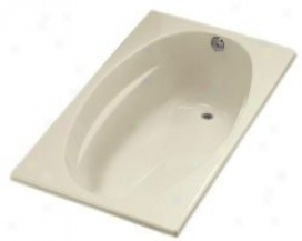 Kohler K-1142-r-0 6036 Bath With Flange And Right-hand Drain, White