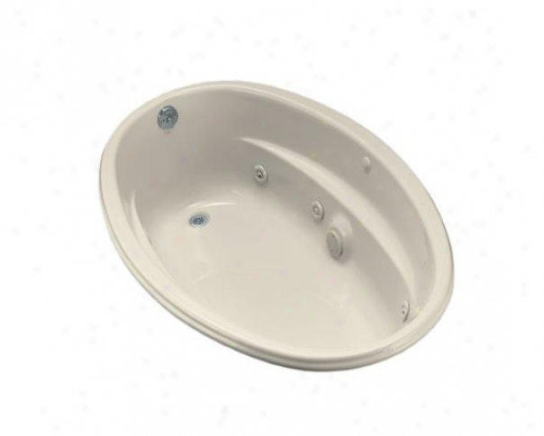 Kohler K-1146-hn-47 Proflex 60ã¢â'¬? X 40ã¢â'¬? Oval Whirlpool Bath Tub With Custom Pump Location And