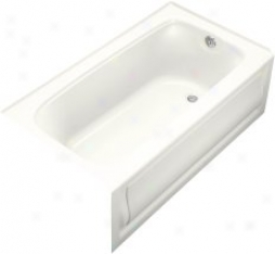 Kohler K-1150-ra-0 Bancroft 5' Bath With Integral Apron And Right-had Drain, White
