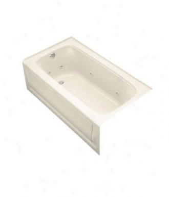 Kohler K-1151-la-47 Bancroft 5' Wirlpool With Integral Apron And Left-hand Drain, Almond