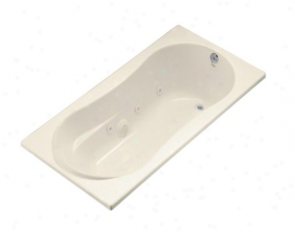 Kohler K-1157-hr-47 Proflex 7236 Whirlpool With Flange, Heater And Right-hand Drain, Almond