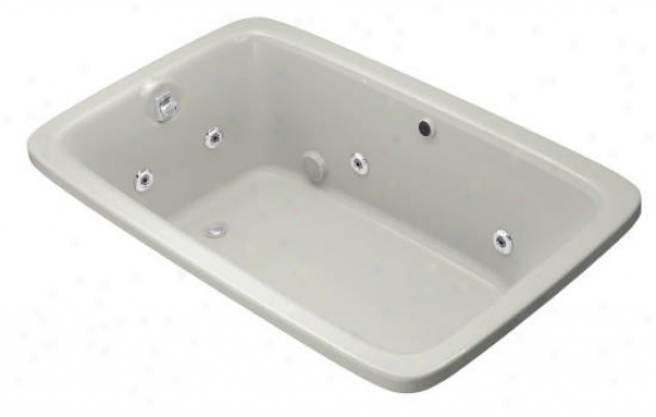Kohler K-1158-he-95 Bancroft Experience 5.5' Whirlpool With Heater And Custom Pump, Ice Grey