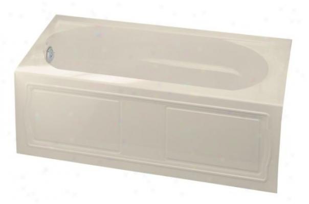 Kohler K-1184-la-47 Devonshire Bath With Integral Apron, Tile Flange And Left-hand Drain, Almond