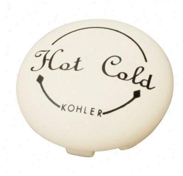 Kohler K-12001-96 Fairfax Single-control Plug Button, Biscuit