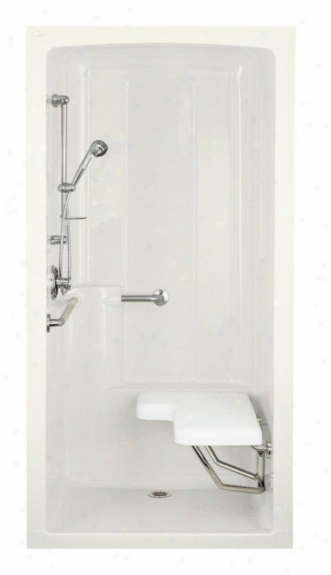 Kohler K-12100-c-0 Freewill One-piece Barrier-free Transfer Shower Module With Brushed Stainless Ste