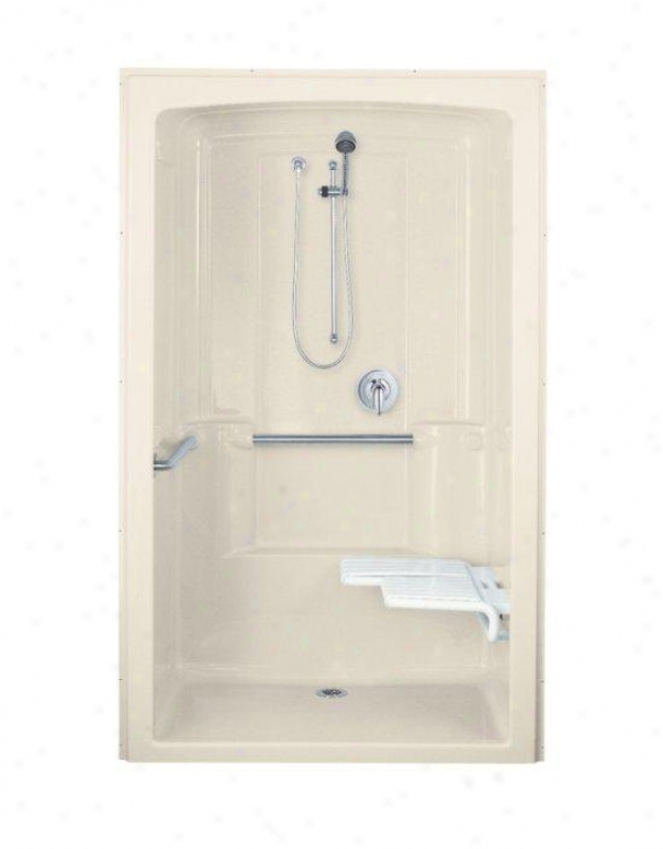 Kohler K-12112-c-47 Freewill Barrier-free Shower Module With Brushed Stainless Steel Grab Bars And S