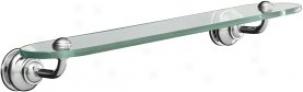 Kohler K-12158-cp Fairfax Glass Shelf, Polished Chrome