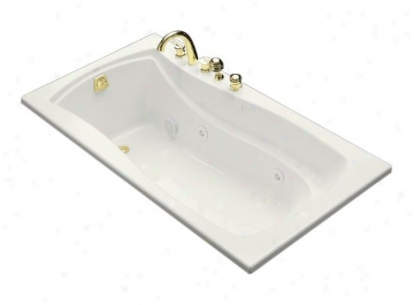 Kohler K-1224-l-0 Mariposa 5.5' Whirlpool With Flange And Left-hand Drain, Whie