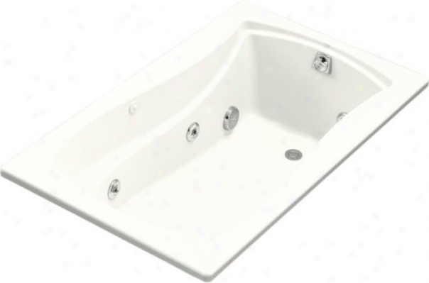 Kohler K-1239-hb-0 Mariposa 5' Whirlpool With Custom Pump Location And Heater, White