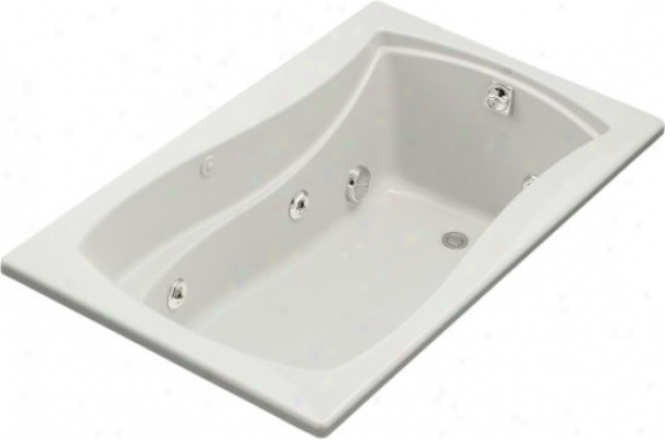Kohler K-1239-hb-5 Mariposa 5' Whirlpool With Custom Pump Location And Heater, Ice Grey