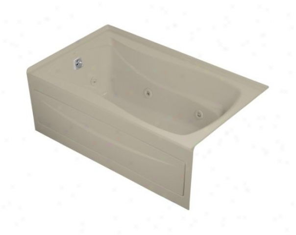 Kohler K-1239-hl-g9 Mariposa 5' Whirlpool With Integral Apron, Leeft-hand Drain And Heater, Sandbar