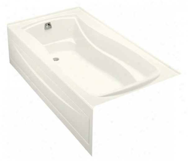 Kohler K-1257-gla-0 Mariposa 6' Bubblemassage Bath With Integral Apron And Left-habd Drain, Wyite