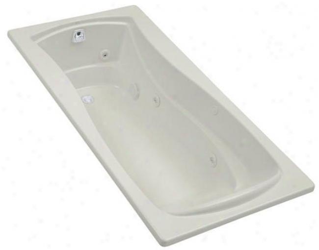 Kohler K-1257-lh-ny Mariposa 6' Vortex With Flange, Left-hand Drain, And Heater, Dune