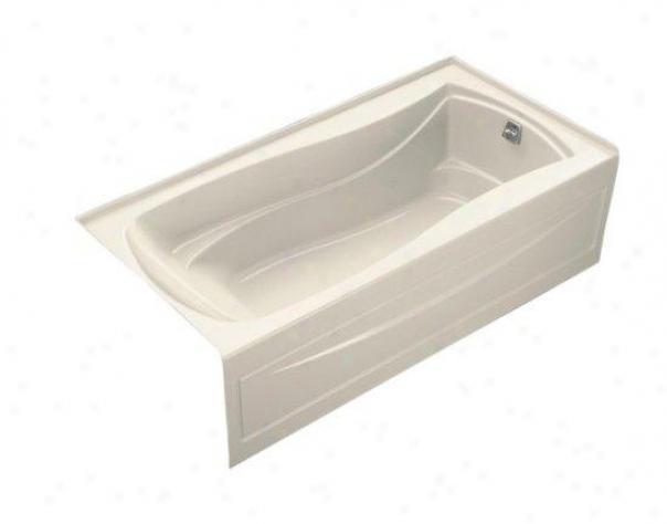 Kohler K-1259-ra-47 Mariposa 6' Bath With Integral Apronn, Tile Flange And Right-hand Sewer, Almond