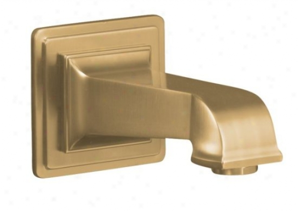 Kohler K-13139-a-bv Pinstripe Pure Wall-mount, 67/8 Nond-iverter Bath Spout, Vibrant Brushed Brass