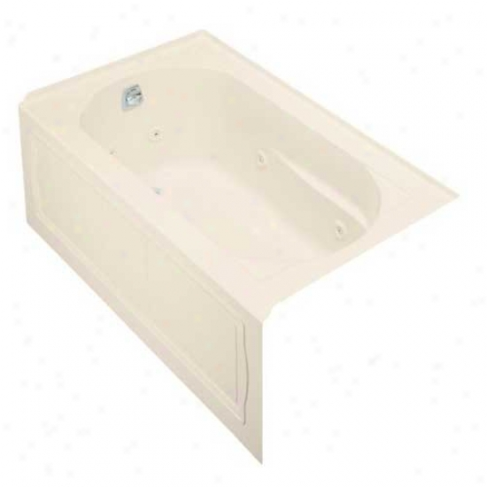 Kohler K-1357-hl-47 Devnshire 5' Bath Whirlpool With Integral Apron, Heater And Left-hand Drain, Al