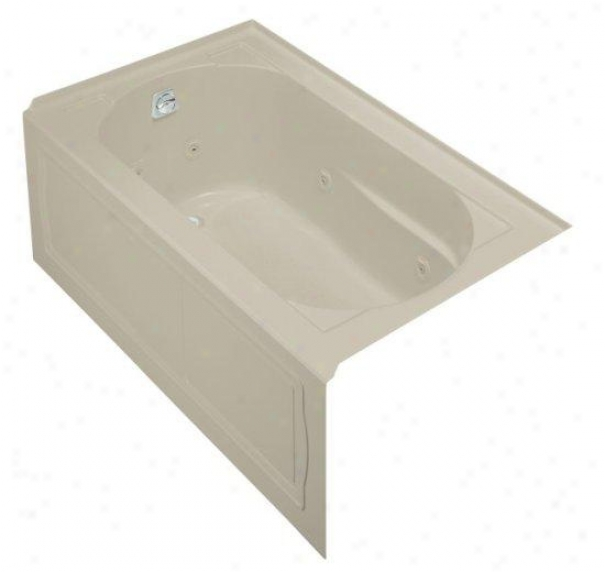 Kohler K-1357-la-g9 Devonshire 5' Bath Whirlpool With Integral Apron And Left-hand Drain, Sandbar