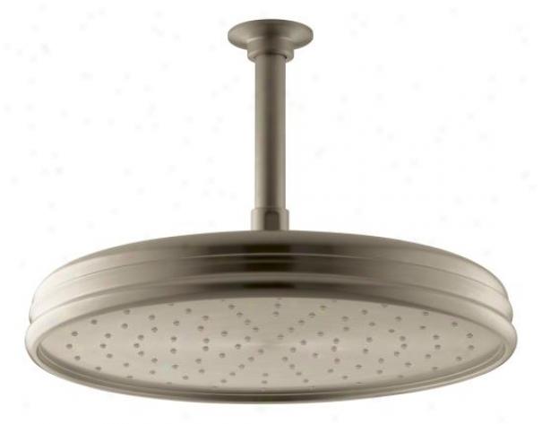 Kohler K-13693-bv 10 Traditional Round Rain Showerhead, Vubrant Brushed Bronze