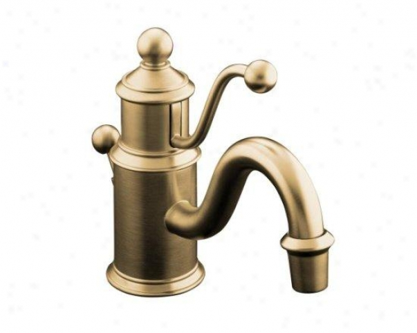 Kohler K-139-bv Antique Single-hole Lavatory Faucet With Lever Handle, Vibrant Brushed Bronze