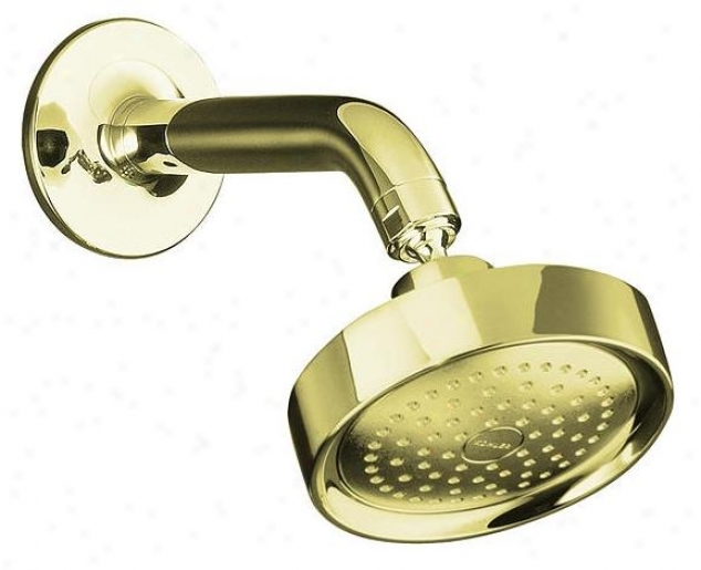 Kohler K-14418-af Purist Single Function Showerhead With Arm And Flange, Vibrant French Gold
