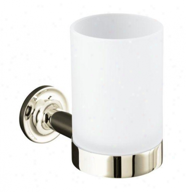 Kohler K-14447-sn Purist Tumbler And Holdee, Vibrant Polished Nickel