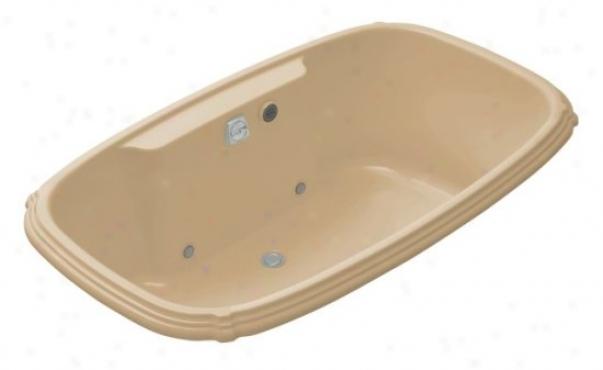 Kohler K-1457-gcr-33 Portrait 5.5' Bubblemassage Bath Witth Chromatherapy, Mexican Sand