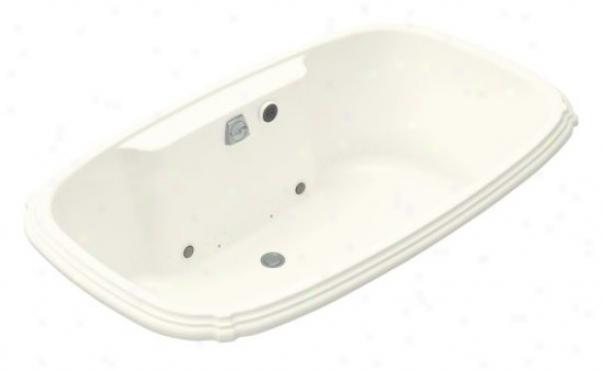 Kohler K-1457-gcr-96 Porteait 5.5' Bubblemassage Bath With Chromatherapy, Biscuit