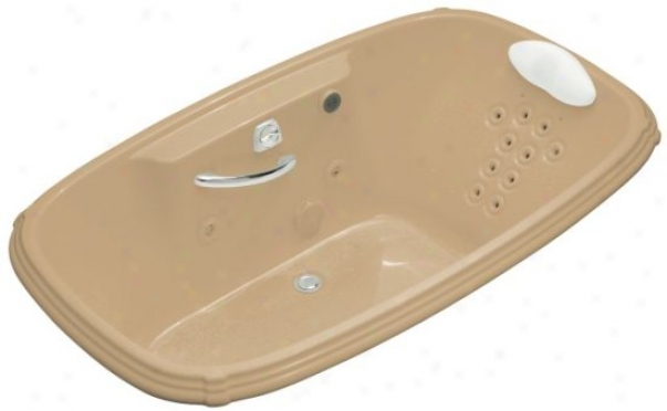 Kohler K-1457-lm-33 Po5trait 5.5' Whirlpool Wity Massage Experience And Left-hand Pump, Mexican Sand