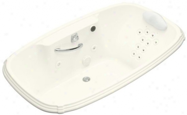Kohler K-1457-lm-96 Portrai 5.5' Whirlpool With Massage Experience And Left-hand Pump, Biscuit