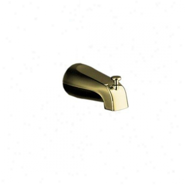 Kohler K-15136-pb Coralais Diverter Bath Spout With Npt Connnection, Vibrant Polisshed Brass