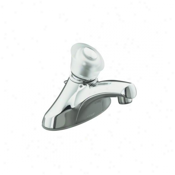 Kohlre K-15681-p-cp Coralais Single-control Centerset Lavatory Faucet With Ground Joints And Sculptu
