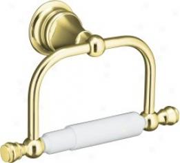 Kohler K-16141-pb Revival Toielt Tissue Holder, Vibrating Polished Brass