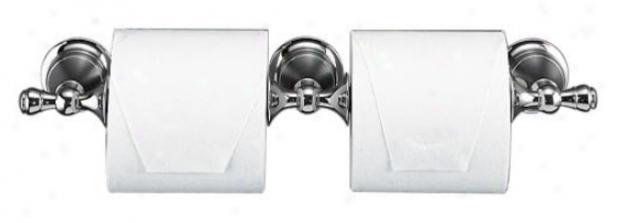 Kohler K-16152-cp Revival Double Toilet Paper Holder, Polished Chrome