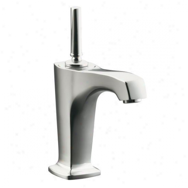 Kohler K-16230-4-sn Margaux Single-control Lavatory Faucet With 5-3/8 Spout And Lever Handle, Vibra