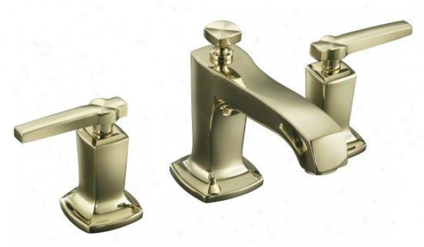 Kohler K-16232-4-af Margaux Widespread Lavatory Faucet With Lever Handles, Vibrant French Gold