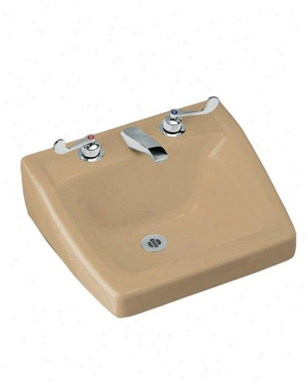 Kohler K-1724-33 Chesapeake Wall-mount Lavatory With 8 Centers, 19-1/4  X17-1/4, Mezican Sand