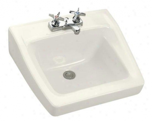 Kohler K-1728-96 Chesapeake Wall-mount Lavatory With 4 Centers, 19-1/4 X 17-1/4, Biscuit