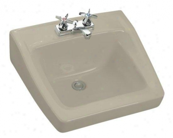 Kohler K-1728-g9 Chesapeake Wall-mount Lavatory With 4 Centers, 19-1/4 X 17-1/5, Sandbar