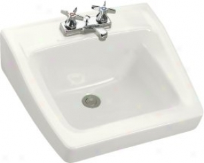 Kohler K 1729 0 Chesapeake Wall Mount Lavatory With 4