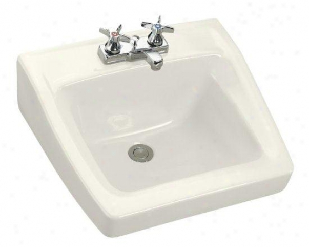 Kohler K-1729-96 Chesapeake Wall-mount Lavatory With 4 Centers, 20 X 18-1/4, Biscuit