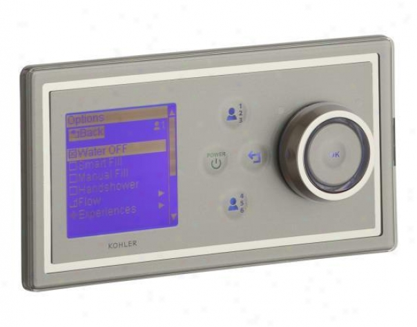 Kohler K-176-1sn Dtv Bath Digital Interface, Satin Nickel With Polisher Nickel