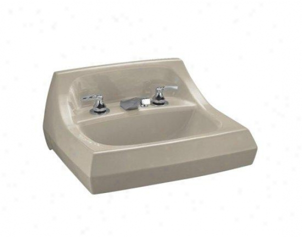 Kohler K-2005-l-g9 Kingston Wall-mount Lavatory With 4 Centers And Left Hand Soap/lotion Dispenser