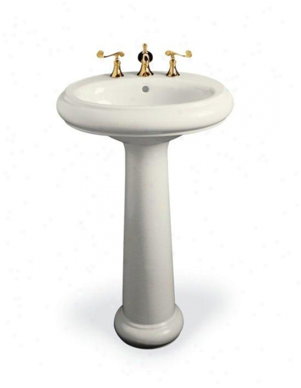 Kohler K-2013-8-96 Revival Traditional Pedestal Lavatory With 8 Centers, Biscuit