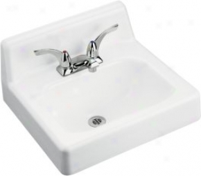 Kohler K2805-0 Hudson Wall-mount Lavatory With Single-hole Faucet Drilling, White