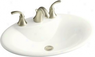Kohler K-2831-8-0 Maratea Self-rimming Lavatory With 8 Centers, White