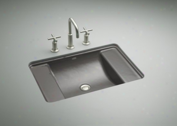 Kohler K-2838-58 Ledges Undercounter Lavatory, Th8nder Grey