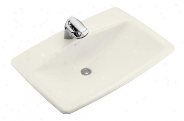 Kohler K-2885-1-96 Man's Lav Self-rimming Lavatory With Single-hole Faucet Drilling, Biscuit