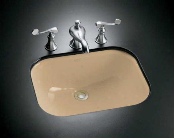 Kohler K-2890-4u-33 Tahoe Undercounter Lavatoey With Oversized 4 Centers, Mexican Gravel