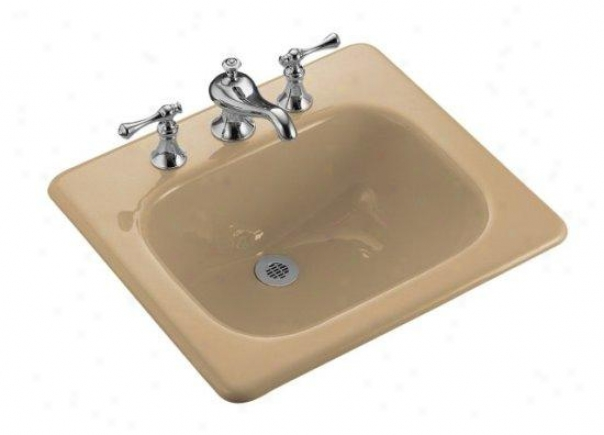 Kohler K-2895-1-33 Tahoe Self-rimming Lavatory With Single Hole Faucet Drilling, Mexican Sand